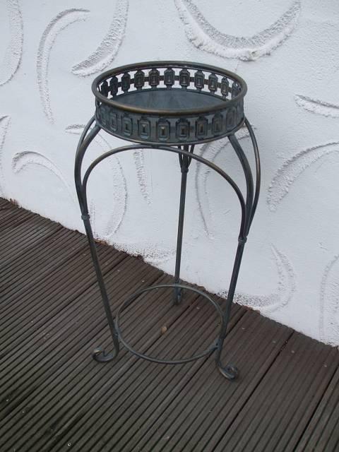 blumentisch blumenst nder beistelltisch landhaustil eisen 74 cm hoch ebay. Black Bedroom Furniture Sets. Home Design Ideas