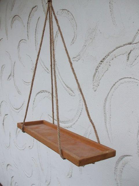 sch ner dekorativer k chenh nger h ngeregal holz 55 cm. Black Bedroom Furniture Sets. Home Design Ideas