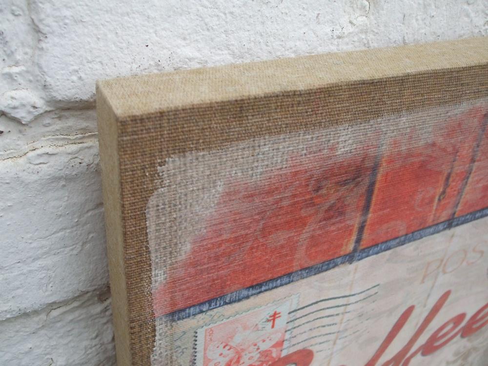 dekoratives wandbild auf leinwand coffee vienna postcard antik. Black Bedroom Furniture Sets. Home Design Ideas