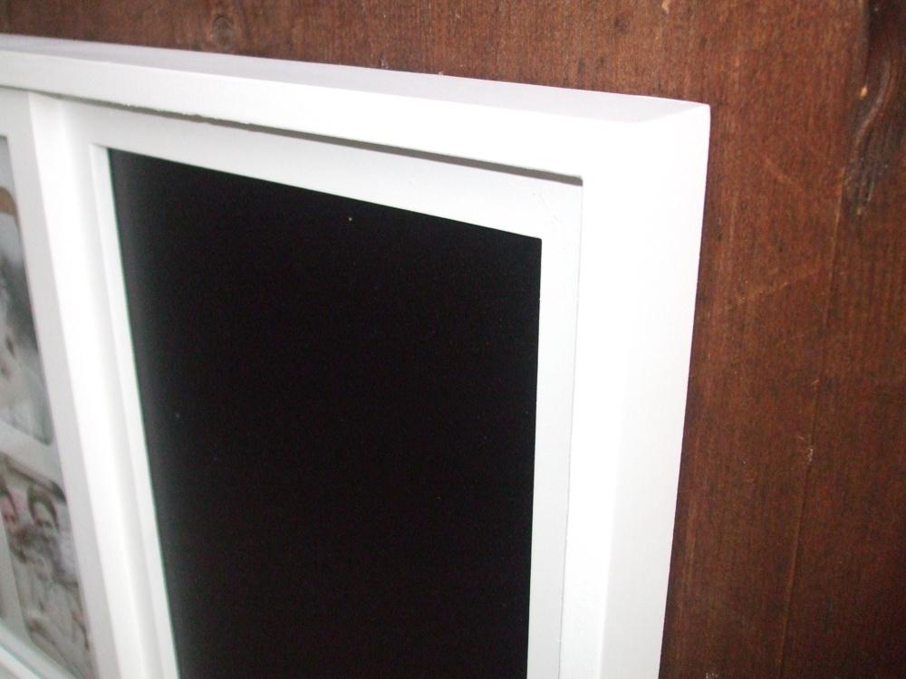fotorahmen bilderrahmen mit memotafel memoboard kreidetafel ebay. Black Bedroom Furniture Sets. Home Design Ideas