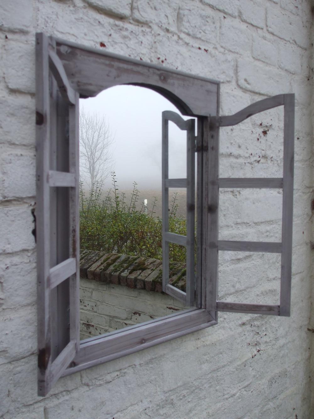 spiegel mit fensterl den wandgestaltung shabby chic spiegel new orleans mit landhaus spiegel. Black Bedroom Furniture Sets. Home Design Ideas