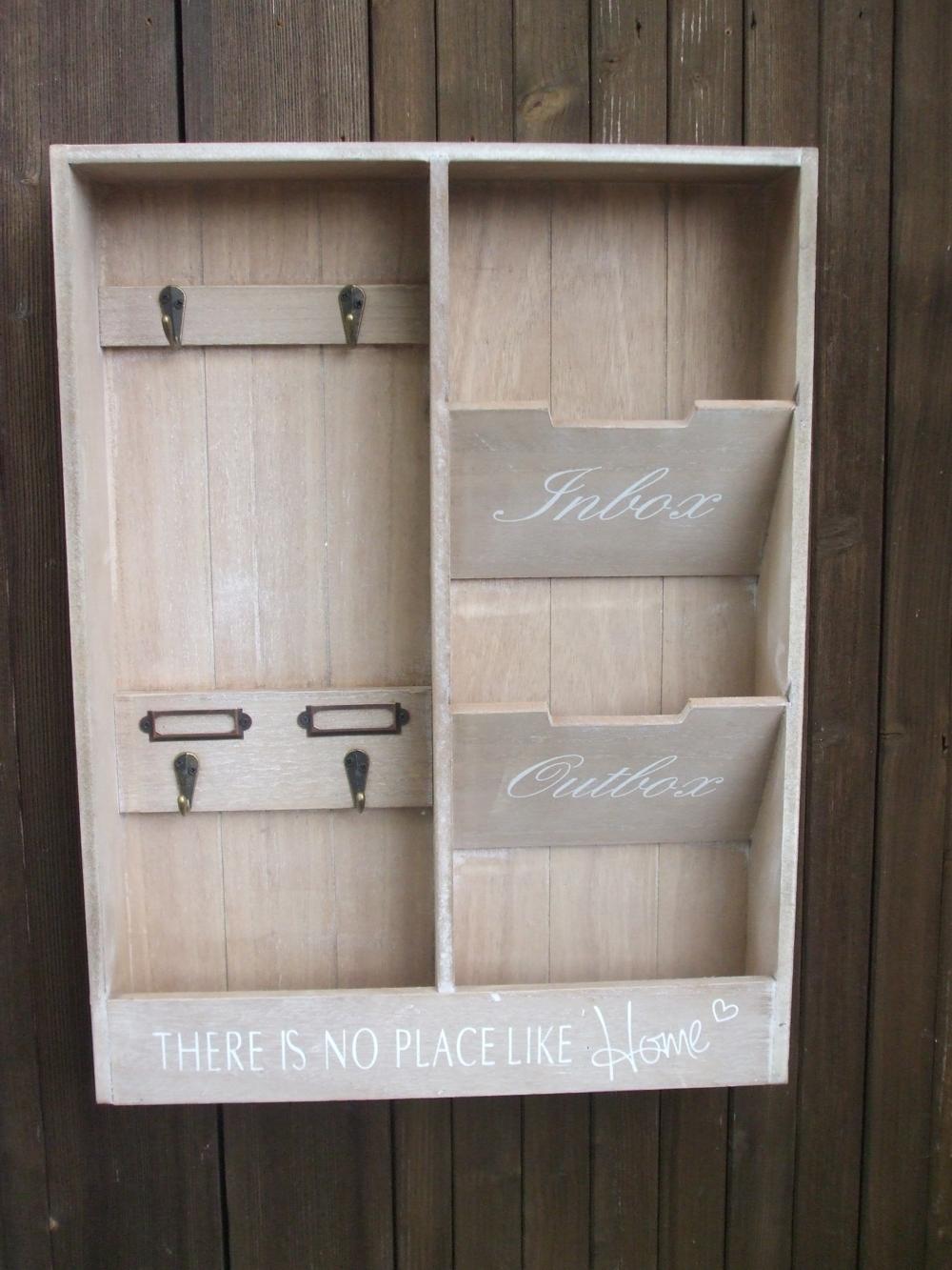 wandregal schl sselkasten briefablage schl sselboard wandablage landhaus ebay. Black Bedroom Furniture Sets. Home Design Ideas