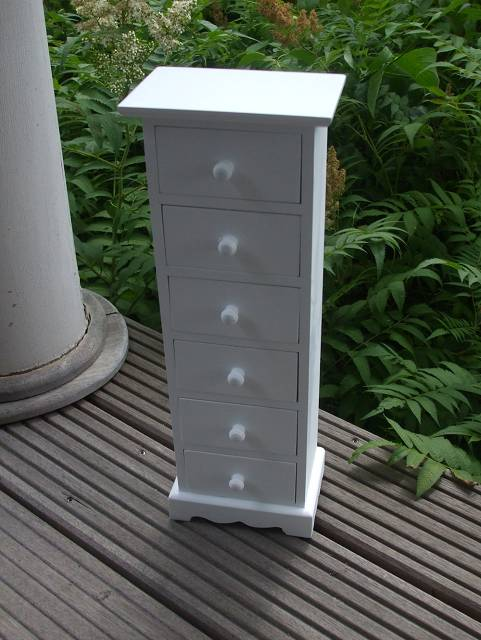 kleine kommode mini kommode schmuck schrank regal weiss 6 laden ebay. Black Bedroom Furniture Sets. Home Design Ideas