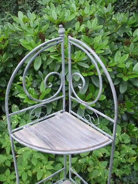 eckregal eisenregal 3 holzb den landhausstil grau 128. Black Bedroom Furniture Sets. Home Design Ideas