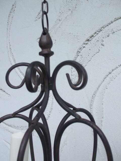 h ngekerzenleuchter kerzenkronleuchter mediterran eisen dunkelrostfarben ebay. Black Bedroom Furniture Sets. Home Design Ideas