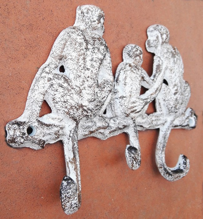 Wandhakenleiste Affenfamilie von Deko-Impression