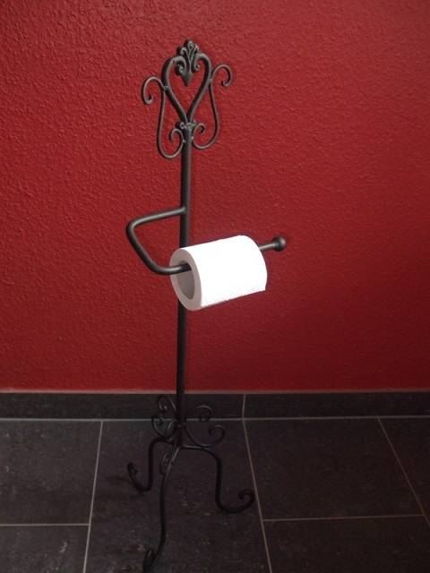 Toilettenrollenständer,WC-Rollenständer,Rollenhalter,Landhaustil,Eisen