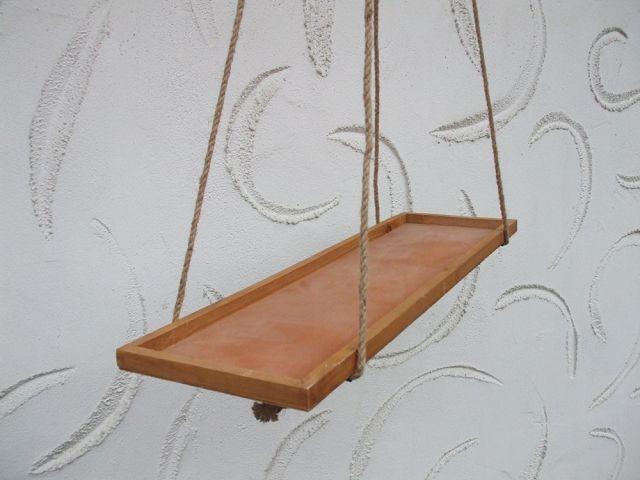 praktischer dekorativer k chenh nger h ngeregal holz. Black Bedroom Furniture Sets. Home Design Ideas