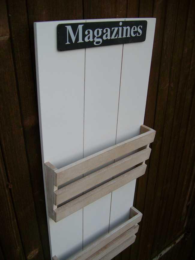 Wandhalter wandregal Wandablage Zeitungskorb Magazines Holz / MDF
