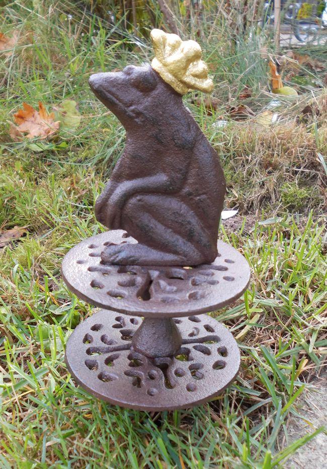 Gartenschlauchrolle froschk nig umlenkrolle for Gartendeko gusseisen rostig