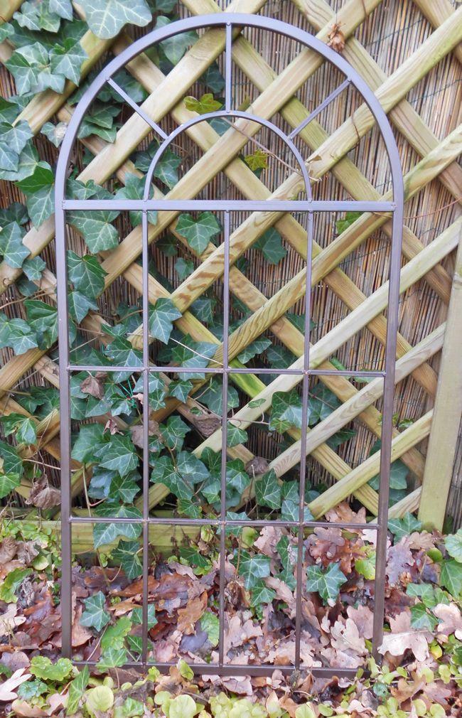 Deko-Fenster Sprossenfenster Dekorahmen Bilderrahmen  Eisen braun 87cm