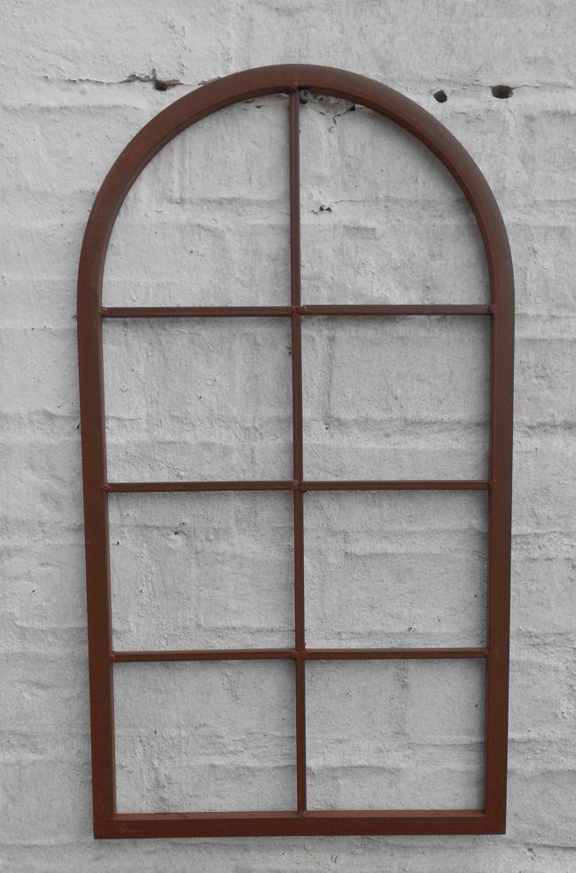 Fenster Sprossenfenster Bilderrahmen Wanddekoration Eisen rostfarben