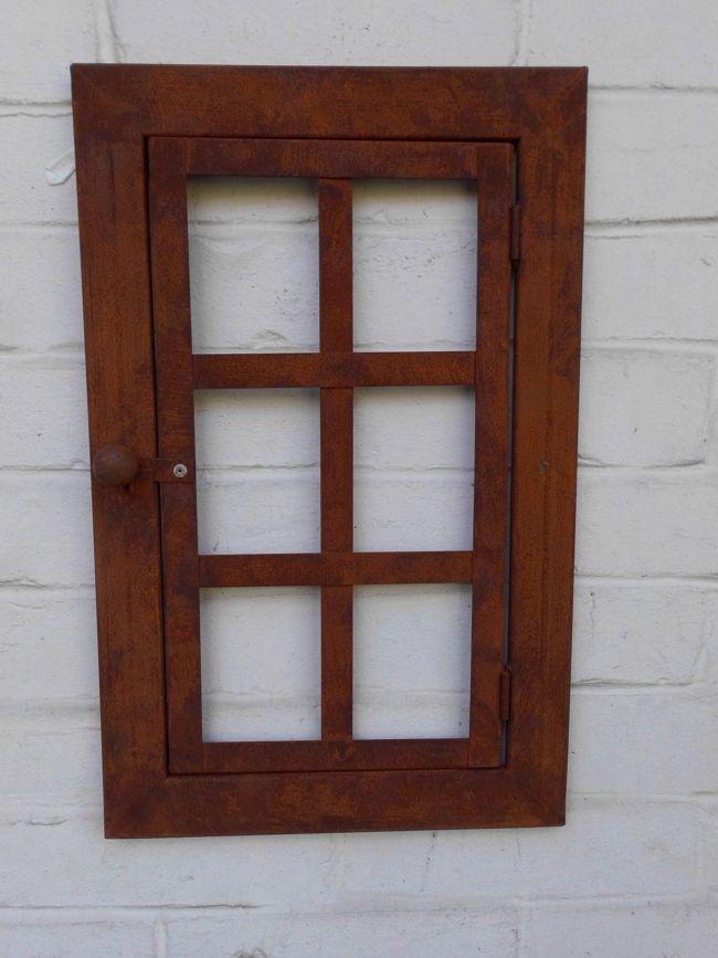 Fenster Sprossenfenster Fensterrahmen m. Scharnier Eisen massiv Rost